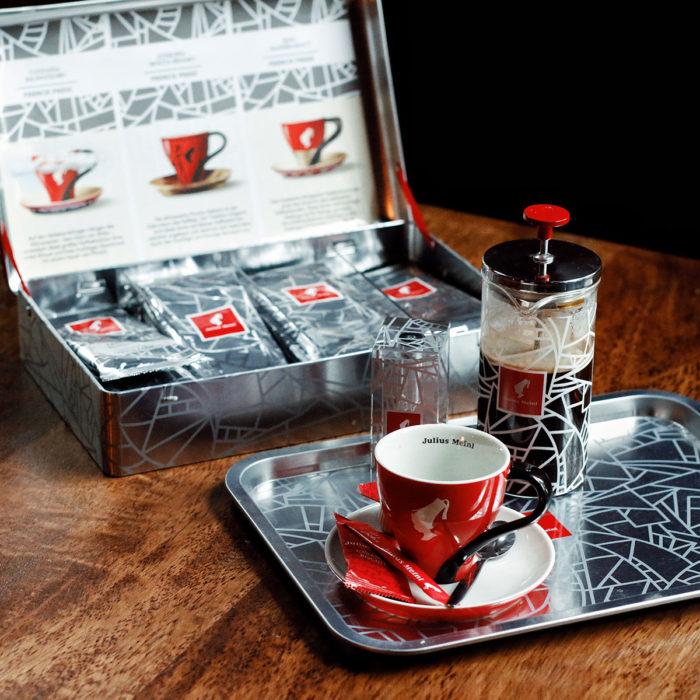 Koffie presenteren